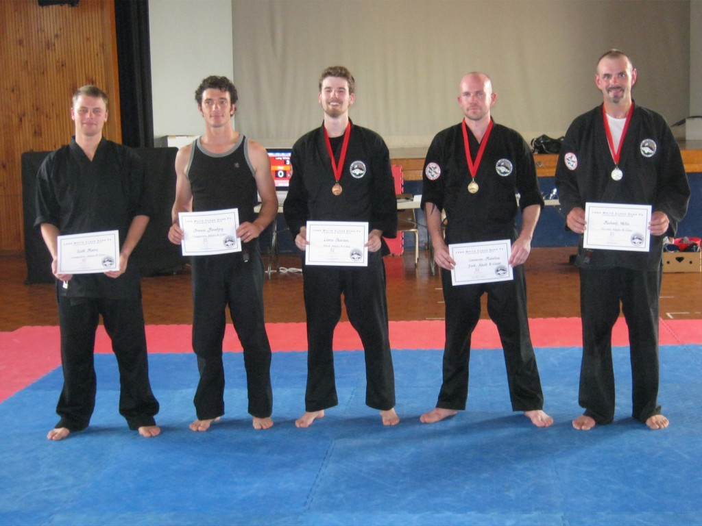 Adult B Class Kung Fu Competitors March 2012
